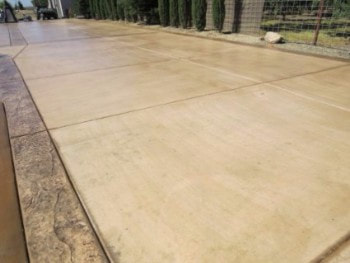 this is an image of concrete driveway construction in modesto california