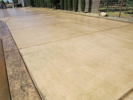 This is a picture of stamped concrete driveway -- Modesto, CA