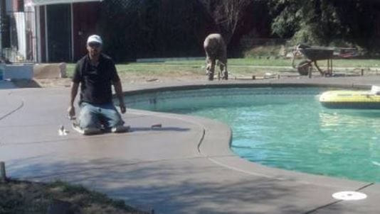 this is an image of pool deck resurfacing in modesto, ca