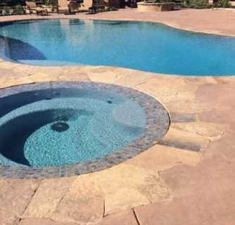 Picture of pool deck contractor Modesto, california