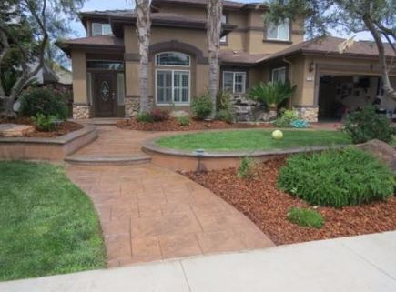 This is an image of modesto stamped concrete driveway contractor